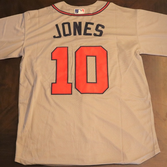 check out 88028 6feaa Chipper Jones #10 Atlanta Braves Cool Base Jersey Boutique